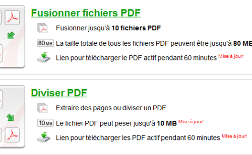 3 outils fusionner PDF