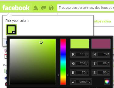 Changer la couleur de Facebook   BDM