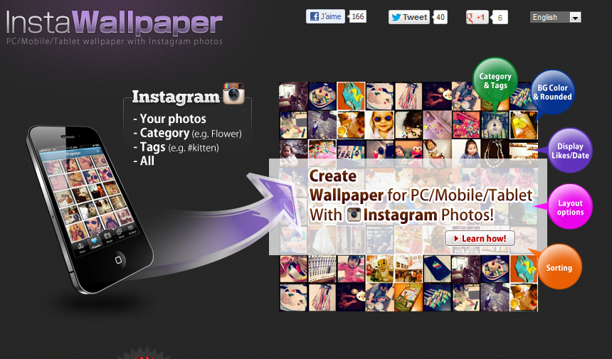 Créer un fond d'écran à partir de ses photos Instagram - BDM