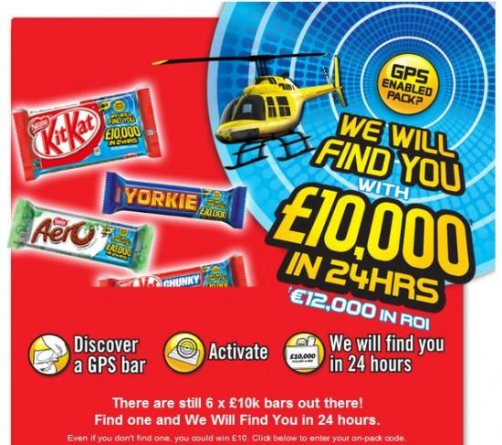 KitKat jeux concours gps