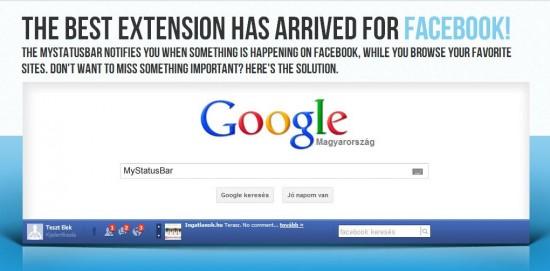 Contrôler son compte Facebook en permanence : My Status Bar