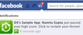 notification facebook