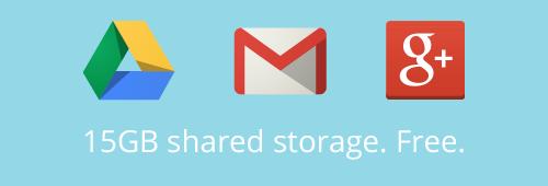 15 Go stockage unifié Gmail  Google Drive Google+ Photos