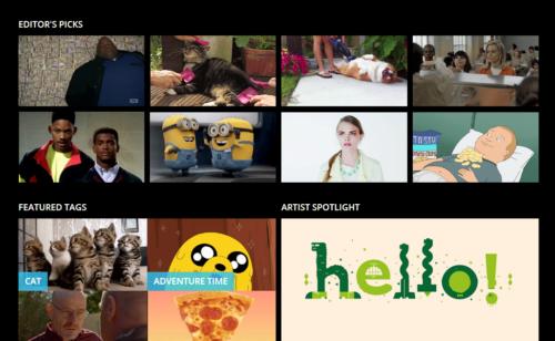 Giphy   moteur recherche GIF animés