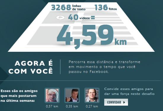 Mesurer la taille de sa timeline Facebook en kilomètres