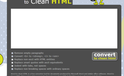 Convertir texte Word HTML propre