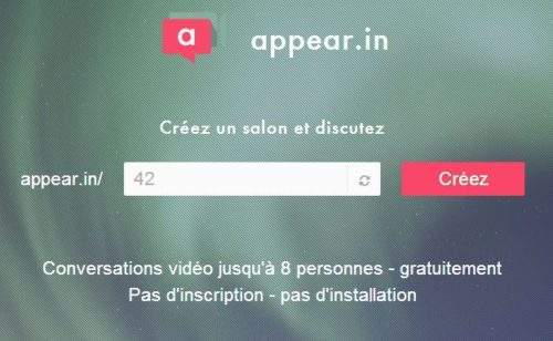 appear.in   organiser téléconférence gratuitement  sans inscription