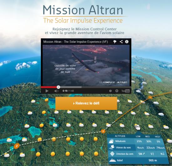 Altran recherche des candidats via un serious game avec Solar Impulse
