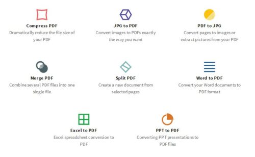 Convertir  fusionner  diviser compresser PDF SmallPDF