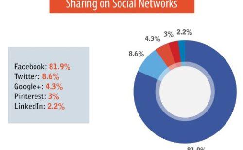 Partages sociaux   81 9% Facebook  8 6% Twitter 4 3% Google+
