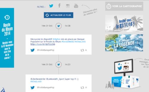 stratégie digitale Voile Banque Populaire Route Rhum