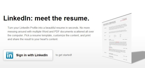 transformer son profil linkedin en cv avec resume builder