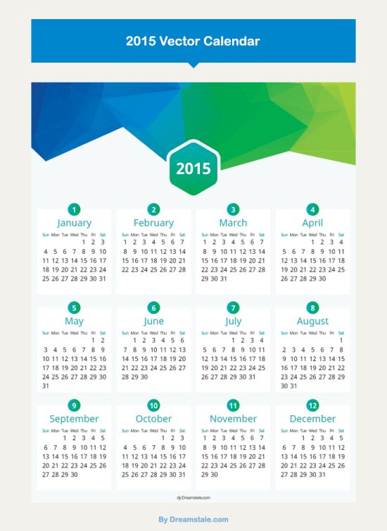 calendrier-2015-vectoriel-moderne