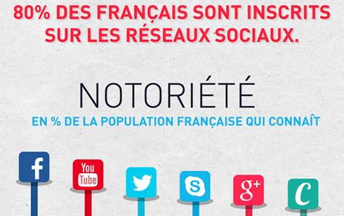 Infographie   80% Français sont inscrits réseaux sociaux