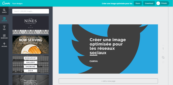 creer un logo sur canva
