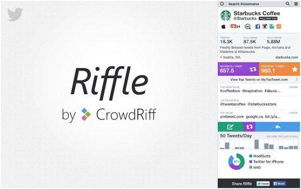 Riffle : un outil pour analyser rapidement un compte Twitter