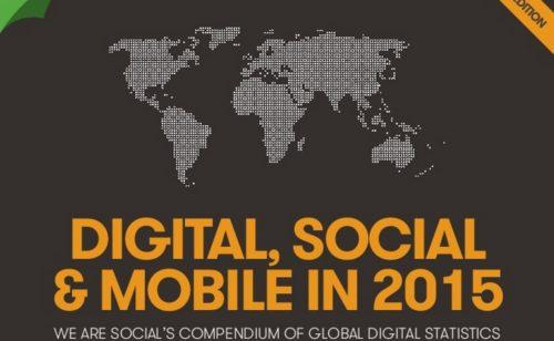 État lieux 2015   Internet réseaux sociaux  France monde