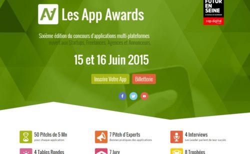 6ème édition App Awards  concours d'applications multi-plateformes