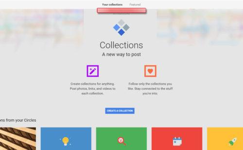 Google Plus évolue fonctionnalité Pinterest