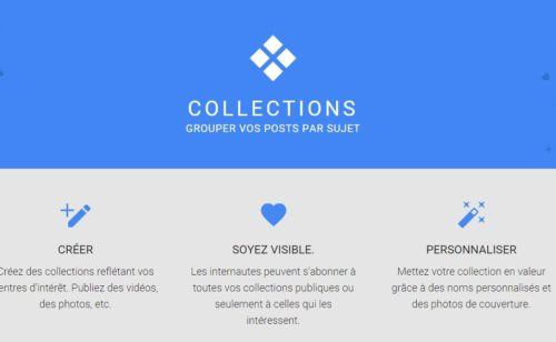 collections Google+ sont disponibles