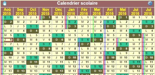 Creer Un Calendrier De L Annee Scolaire 2015 2016 A Imprimer Bdm