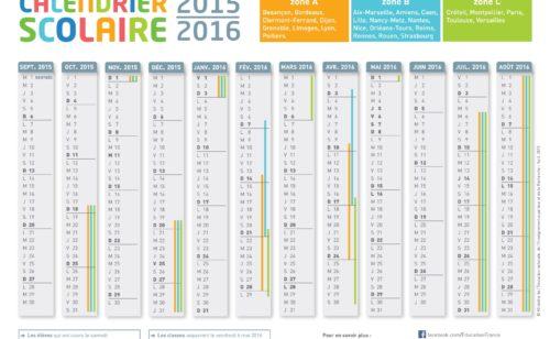 Créer calendrier l'année scolaire 2015-2016 imprimer