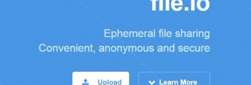 File.io   envoyer fichiers (jusqu'à 50 Go) programmer destruction