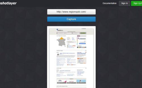 Screenshotlayer   outil ligne capturer pages web entières entrant l'URL