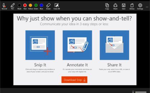 Microsoft Snip   nouvel outil faire captures d'écran  annoter partager