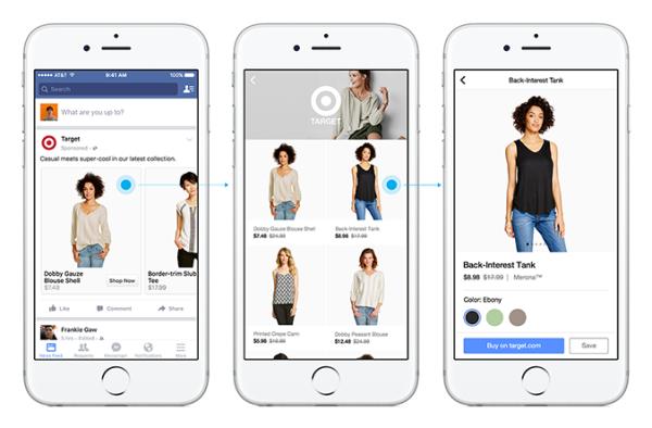 Shopping facebook annonce plusieurs nouveaut s pour le e for E commerce mobili