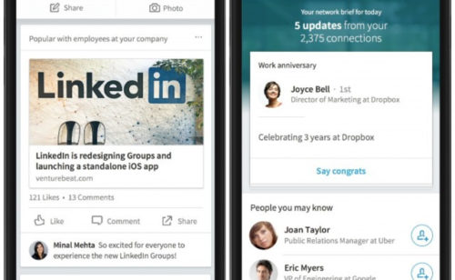 LinkedIn dévoile nouvelle application mobile