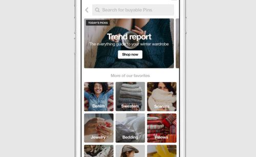 Pinterest Shop  ouverture d'une section e-commerce réseau social