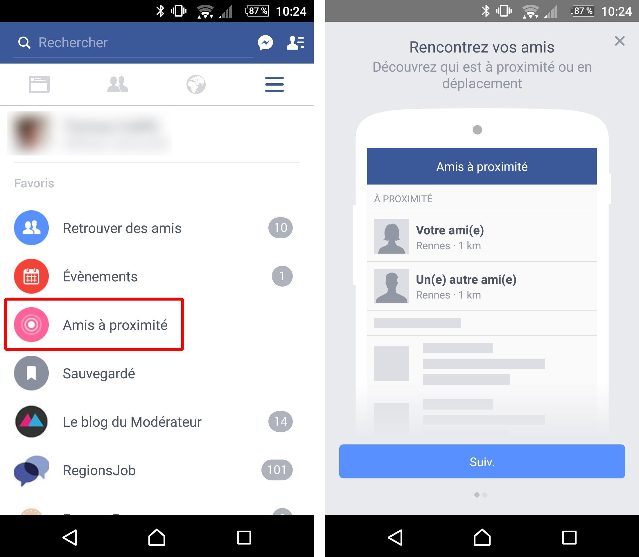Facebook vous alerte quand vos amis sont proximit et for Ville d estaires facebook