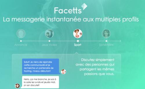 Facetts   appli messagerie instantanée profils multiples