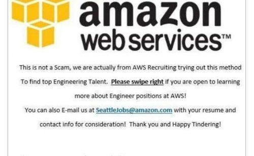 Quand recrutement innovant va trop loin   Amazon cherche séduire ingénieurs Tinder