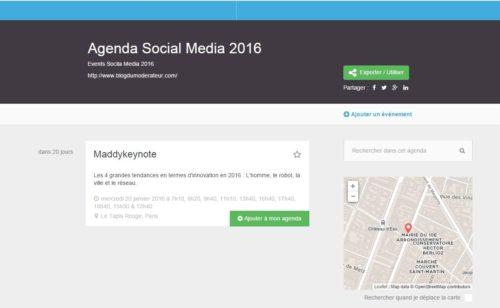 Open Agenda   service gratuit créer agendas complets tous formats
