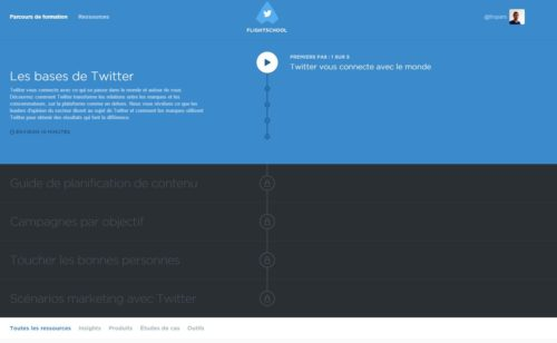 Twitter ouvre formations #TwitterFlightSchool tous professionnels web