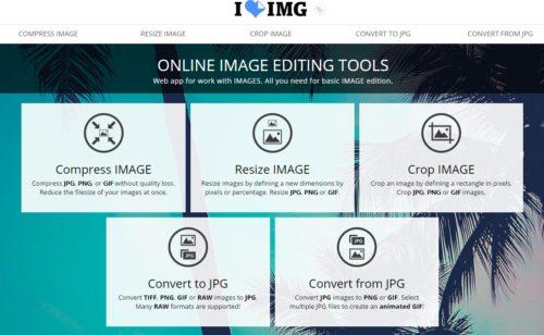 iLoveIMG   site compresser  convertir  redimensionner rogner toutes images