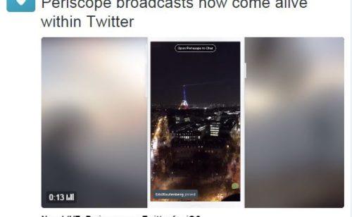 Periscope   lives intégrés affichés timelines Twitter