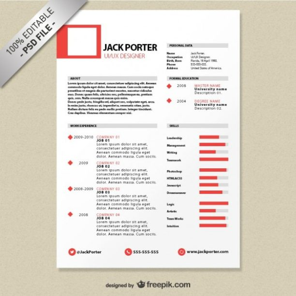 18 modeles de cv creatifs gratuits blog du moderateur for Free resume editing software