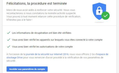 Google offre 2 Go stockage gratuit (à activer d'ici 11 février) Safer Internet Day