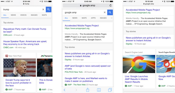 Le référencement des pages AMP sur Google a commencé