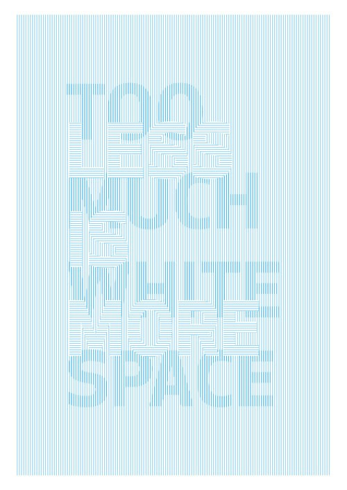 more whitre space