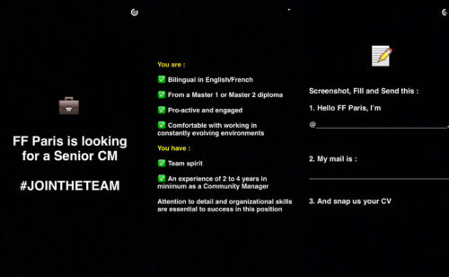 L'agence Fred & Farid recrute CM Snapchat