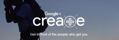 Google+ Create  donner plus visibilité utilisateurs Google+ plus créatifs