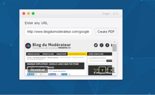Pdflayer   convertir page web fichier PDF