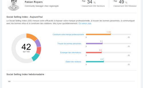 Mesurer e-réputation LinkedIn Social Selling Index