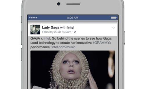 Facebook   généralisation format publicitaire «Branded Content»