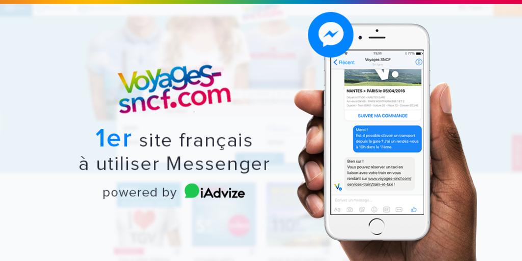 Décryptage : comment iAdvize intègre voyages-sncf.com à Facebook Messenger