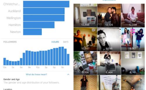 Instagram Analytics   découvrez premières images statistiques Instagram